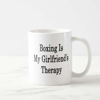Boxing Is My Girlfriend's Therapy Basic White Mug