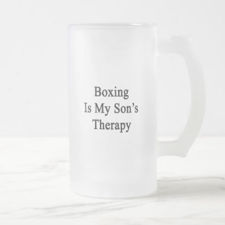 Boxing Is My Son's Therapy Coffee Mug