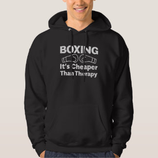 Boxing - It's Better Than Therapy Hoodie