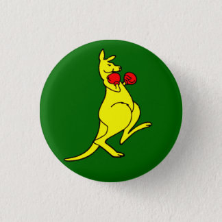 Boxing Kangaroo 1 Inch Round Button