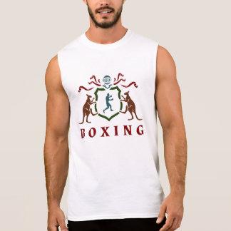 Boxing Kangaroo Blazon Sleeveless T-Shirt