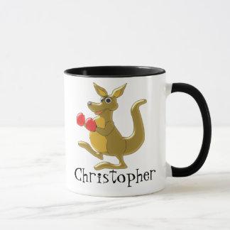 Boxing Kangaroo Just Add Name Mug
