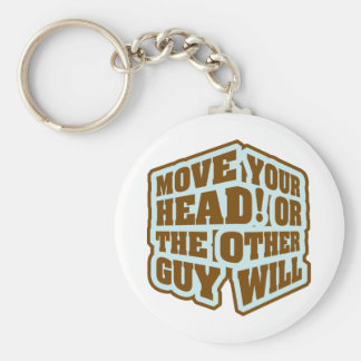 Boxing - Move your head or the other guy will Basic Round Button Keychain