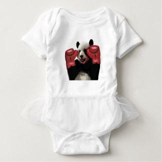 Boxing panda baby bodysuit