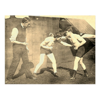 Boxing Practice 1913 Postcard