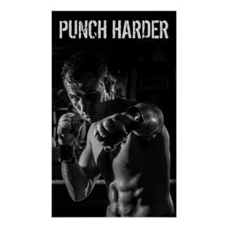 Boxing Punch Workout Motivational Poster