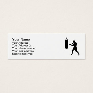 Boxing punching bag mini business card