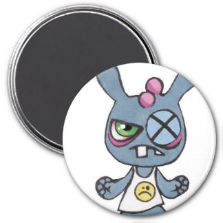 Boxing Rabbit Large 3inch Round Magnet
