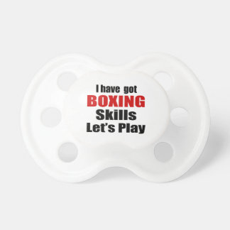 BOXING SKILLS DESIGNS PACIFIER