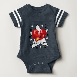 Boxing Star Design Baby One-Piece Bodysuit
