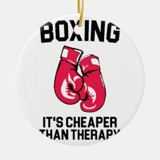 Boxing Therapy Ceramic Ornament