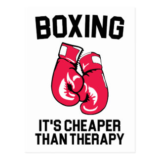 Boxing Therapy Postcard