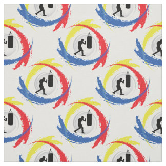 Boxing Tricolor Emblem Fabric