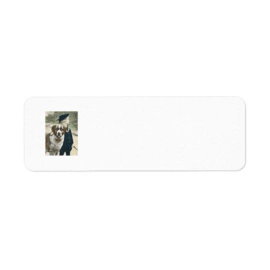 Boy and Dog Adorable Return Address Lable