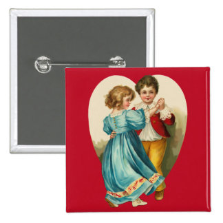 Boy and Girl Dancing 2 Inch Square Button