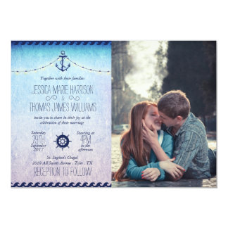 boy and girl kissing love road city/nautic theme card