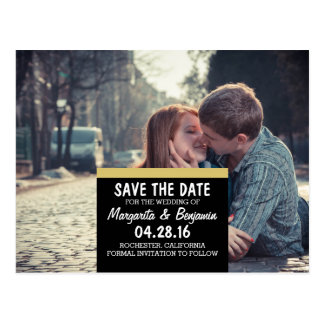 boy and girl kissing love road city/Save The Date Postcard