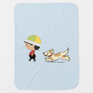 Boy and his dog blanket