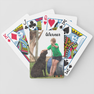 Boy and mans best Friend Bicycle Playing Cards