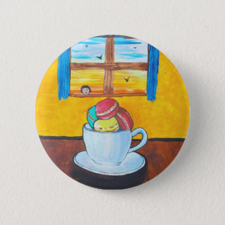 Boy and the Macaroons 2 Inch Round Button
