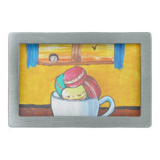 Boy and the Macaroons Rectangular Belt Buckle