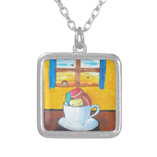 Boy and the Macaroons Silver Plated Necklace