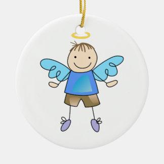 BOY ANGEL CERAMIC ORNAMENT
