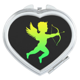 Boy Angel  Heart Compact Mirror