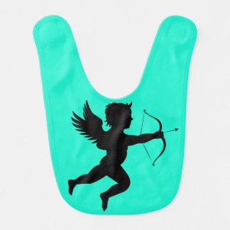 Boy Angel Turquoise Baby Bib