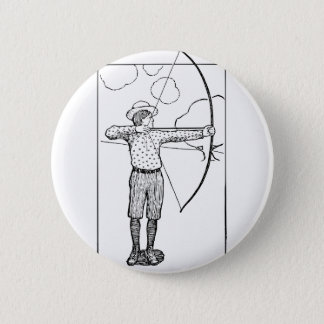 Boy Archer Illustration 2 Inch Round Button
