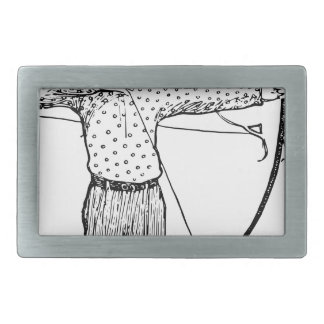 Boy Archer Illustration Belt Buckles