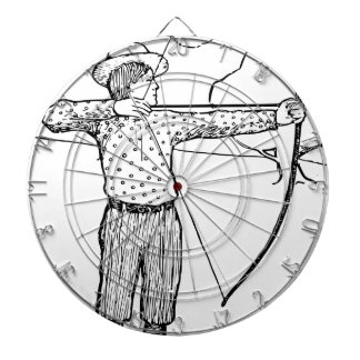 Boy Archer Illustration Dartboard