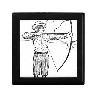 Boy Archer Illustration Gift Box