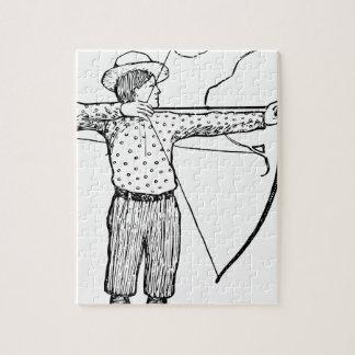 Boy Archer Illustration Jigsaw Puzzle