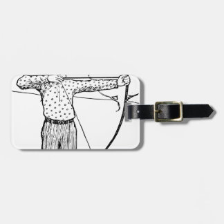 Boy Archer Illustration Luggage Tag