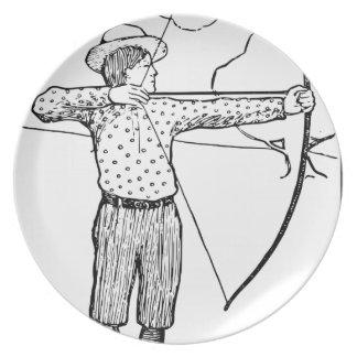 Boy Archer Illustration Plate