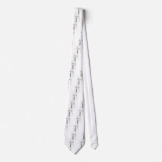 Boy Archer Illustration Tie