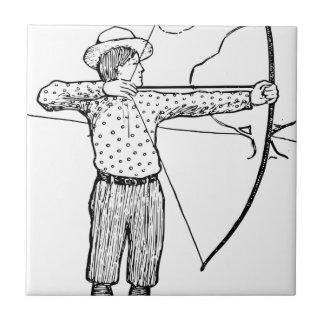 Boy Archer Illustration Tile