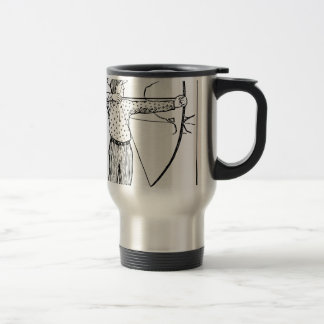 Boy Archer Illustration Travel Mug