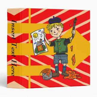 Boy Artist and Artwork 2 Vinyl Binders
