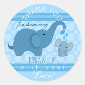 Boy Baby Elephant Baby Shower Sticker