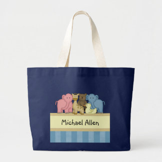 Boy Baby or Toddler Personalized Travel Tote