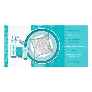 Boy baby photo cards birth announcements