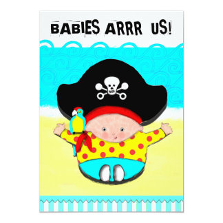 "BOY BABY SHOWER 5"" X 7"" INVITATION CARD"