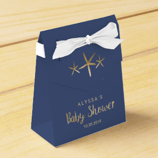 Boy Baby Shower Favor Box - Beach, Ocean, Starfish