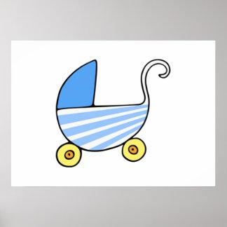 Boy Baby Stroller Poster