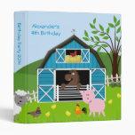 Boy Barnyard Farm Animals Birthday Photo Album Vinyl Binders