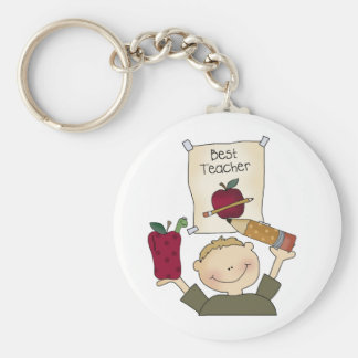 Boy Best Teacher Keychain