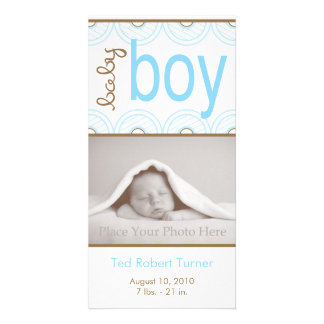 Boy Birth Announcement - Photo Card