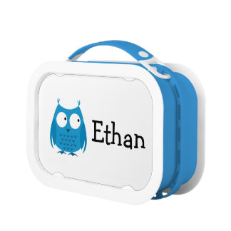Boy Blue Owl Chevron Lunchbox